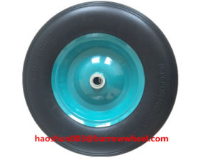 400-8 Solid Flat Free PU Foam Wheel for Wheel Barrow pictures & photos
