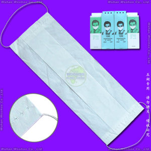 Disposable 1-Ply 2-Ply 3-Ply 4-Ply Paper Face Mask with Elastic Ear-Loops or Elastic Head-Loops pictures & photos