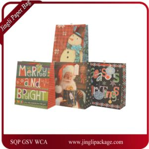 Christmas Glitter Design Gift Bags, Shopping Paper Bag, Gift Paper Bag pictures & photos