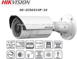 Hikvision IP Camera with 1.3MP IR Bullet, Vari-Focal, Poe (DS-2CD2610F-IS) pictures & photos