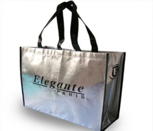 Black Color Printed Non-Woven Shopping Bags for Garments (FLN-9064) pictures & photos