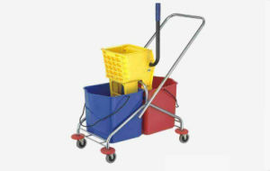 Plastic Side Press Double Bucket Mop Wringer (YG-38) pictures & photos