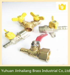 Brass Forged Striaght Thread Gas Ball Valve with Nickel Plated