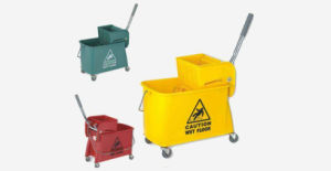 Plastic Portable Single Bucket Wringer Trolley (YG-37) pictures & photos