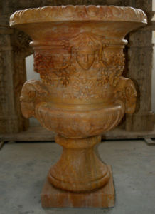 Marble Pot for Garden Stone Decoration Sculpture pictures & photos