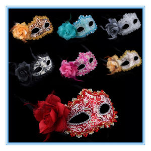 Halloween Dance Party Side Rose Mask / Venice Princess Flowers Mask pictures & photos