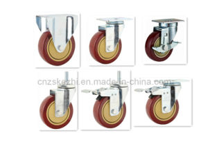 Medium Duty Swivel Single Ball PVC Caster (KMX2-M1) pictures & photos