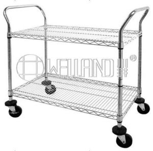 NSF Adjustable Steel Wire Shelving Utility Trolley, Hand Trolley pictures & photos