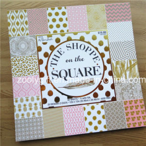 "Customize Printing 12 X 12 "" Gold Foil Scrapbook Paper /Decorative DIY Scrapbooking Paper Pad pictures & photos"