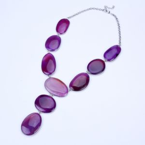 New Purple Color Stone Tassel Jewelry pictures & photos