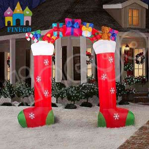 Advertising Christmas Inflatable Gift Box Arch advertisement pictures & photos