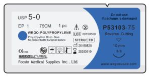 Good Polypropylene Surgical Suture with Small Needle pictures & photos
