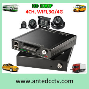 4CH Vehicle CCTV Mobile DVR /HDD SSD SD Vehicle DVR pictures & photos