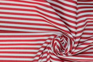 Red/White Stripes 60 Cotton 40 Polyester Twill Yarn Dyed Fabric pictures & photos