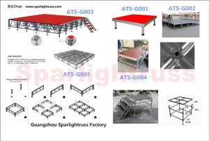 Aluminum Folding Portable Stage on Sale pictures & photos