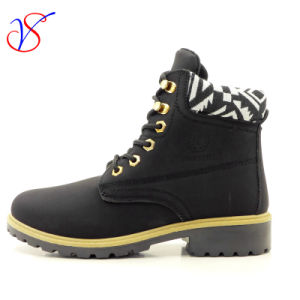 2016 New Style Injection Women Work Boots Shoes for Job with Quick Release (SVWK-1609-030 BLK) pictures & photos