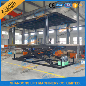 Hydraulic Scissor Car Underground Garage Lift with Ce pictures & photos