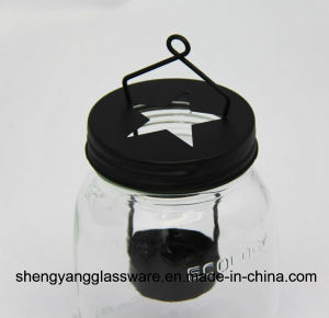 Portable Glass Candle Jar with Metal Lid pictures & photos
