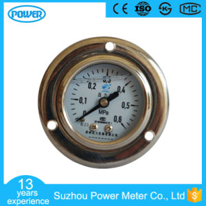 40mm Panel Mounted Stainless Steel Glycerin Filled Water Pressure Gauge pictures & photos