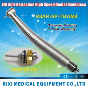Anti-Retraction LED High Speed Standard Push-Button Dental Handpiece