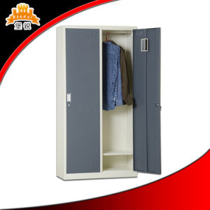 High Quality White Steel 2-Door Clothes Cabinet pictures & photos