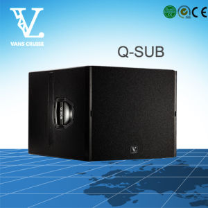 Q-Sub Single 18inch PRO Subwoofer Used as DJ Speaker System pictures & photos
