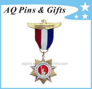 3D Gold Veteran Medal with Ribbon pictures & photos