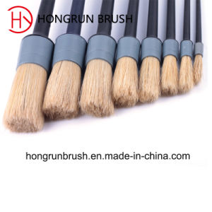 Round Pure Bristle Paint Brush (HYR002) pictures & photos