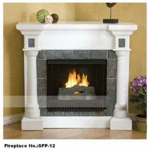 Hand Carved Stone Steamline Fireplace (YKSFP-12)