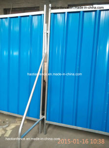 2.4X2.1m Temporary Steel Hoarding Panel pictures & photos