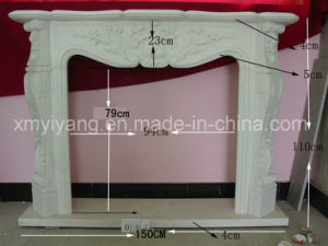 Natural Stone White Marble Fireplace pictures & photos