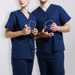 Custom Cotton Hospital Surgical Scrubs Nurse Uniform Beauty Salon Uniform pictures & photos