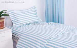 Green White Stripes Hospital Bed Linen