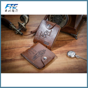 Soft Customized Logo Foldable Men′s Hand Wallet pictures & photos