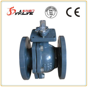 DIN Cast Ductile Iron Full Bore Flanged Lever Ball Valve pictures & photos