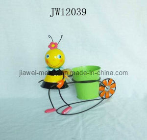 Iron Bee Flower Planter (JW12039)