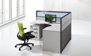 L Shape Single Seater Office Table Best Workstation Laptop pictures & photos