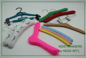 Factory Plastic / Flocked Custom Cloth/Clothes Hanger pictures & photos