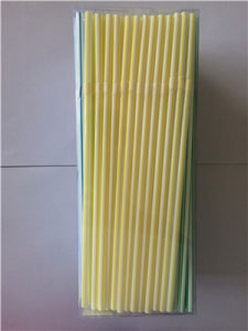 Striped Flexible Plastic Drinking Straw pictures & photos