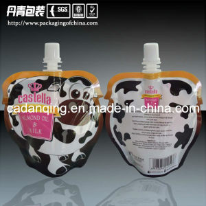 Special Shape Milk Stand up Pouch with Spout pictures & photos