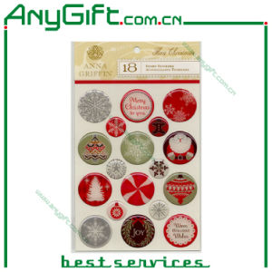 Christmas Domed Sticker / PVC Sticker with Customized Logo pictures & photos