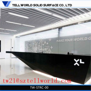 Corian Light up Bar Reception Desk Modern Black Reception Desk pictures & photos