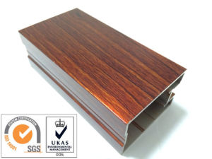 Door and Window Wood Aluminium Profile pictures & photos