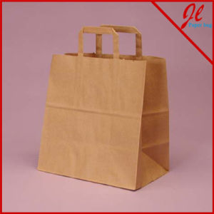 Kraft Flat Handle Grocery Bag Shoppers pictures & photos
