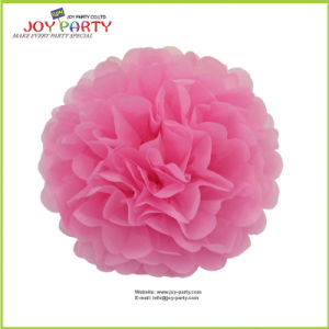 Pink Paper POM Poms for Valentine′s Day Decoration pictures & photos
