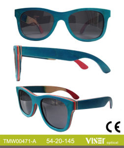Fashion Wooden Sunglasees with High Quality (471-A) pictures & photos