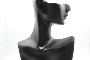 Full Diamond in Dragonfly Design Copper Necklace (NJB_0130)