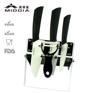 Ceramic Paring /Santoku/Chef Knife with Peeler Set for Kitchen Cutlery pictures & photos