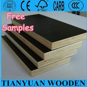 18mm Poplar Core Black Phenolic Film Faced Plywood pictures & photos