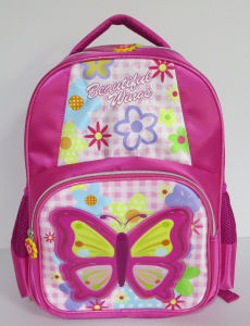 BSCI Factory Butterfly School Bag Scholl Backpack